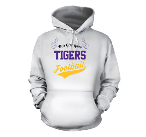 Image of This Girl Loves Tigers Football T-Shirt - Love Family & Home