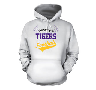 This Girl Loves Tigers Football T-Shirt - Love Family & Home