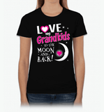 I Love My Grandkids To The Moon & Back! Apparel - Love Family & Home  - 2