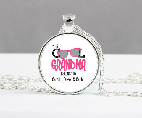 Image of This Cool Grandma Belongs To Personalized Necklace Keepsake - Love Family & Home