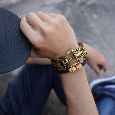 Image of Skull Bones Skeleton Bracelet Streetwear - Love Family & Home