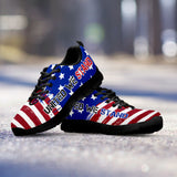 United We Stand USA Flag Ladies Running Shoes