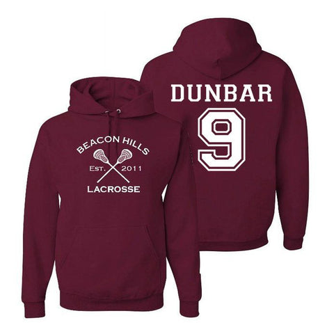 Dunbar 9 Teen Wolf Hoodie Beacon Hills Inspired Lacrosse Adult Fashion Hoodie Apparel - Love Family & Home