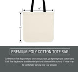 Gymnastics Abstract Silhouette Tote Bag