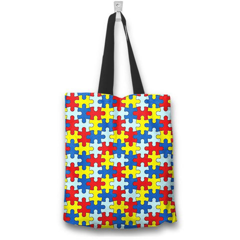 Autism Awareness Tote Bag - Love Family & Home