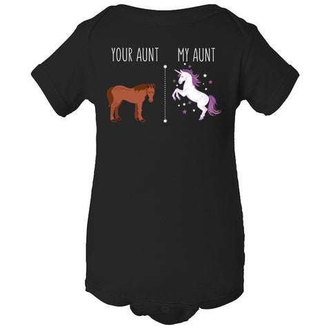 Image of Your Aunt My Aunt Horse Unicorn Funny T-Shirt For Crazy Aunts! - Love Family & Home