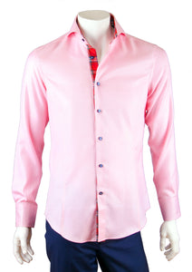 Solid Pink Cotton Twill