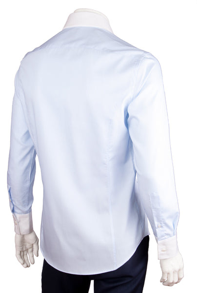 Two-Tone Ribbed Cotton Shirt