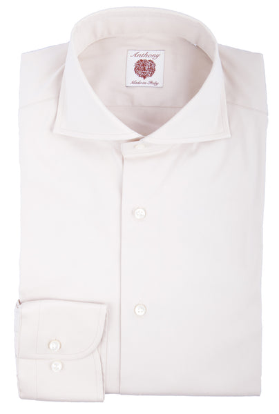 Tan Solid Cotton Shirt