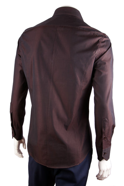 Solid Iridescent Cotton Shirt