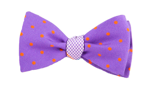 Glen Print Reversible - Polka Dot Bow Tie