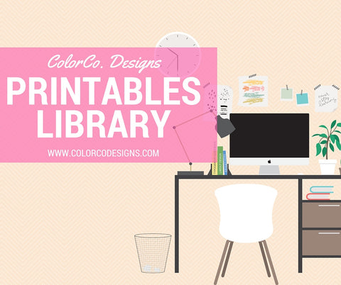 ColorCo. Designs Printable Stickers Library