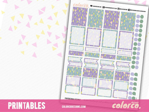 PASTEL SPRING box kit | Printable Planner Stickers | Erin Condren Life Planner