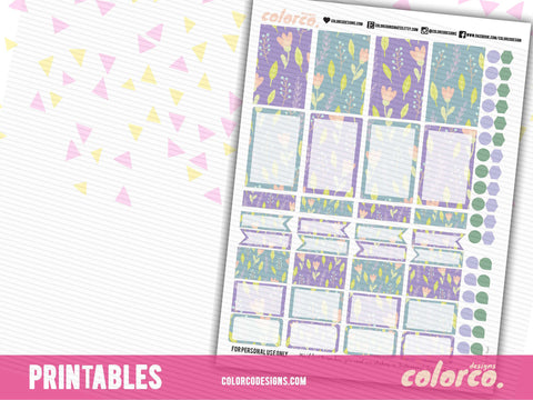 PASTEL SPRING box kit | Printable Planner Stickers | HAPPY PLANNER MAMBI