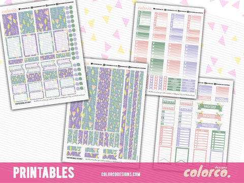 PASTEL SPRING April Weekly kit | Printable Planner Stickers | HAPPY PLANNER MAMBI
