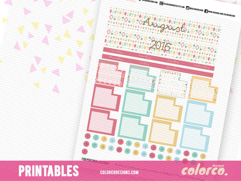August TRIBAL Monthly Kit | Erin Condren Life Planner
