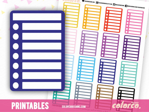 BLANK - Circle -  Stackable Sidebar Checklists |  Erin Condren