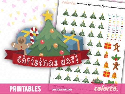Christmas Countdown | Printable Planner Stickers