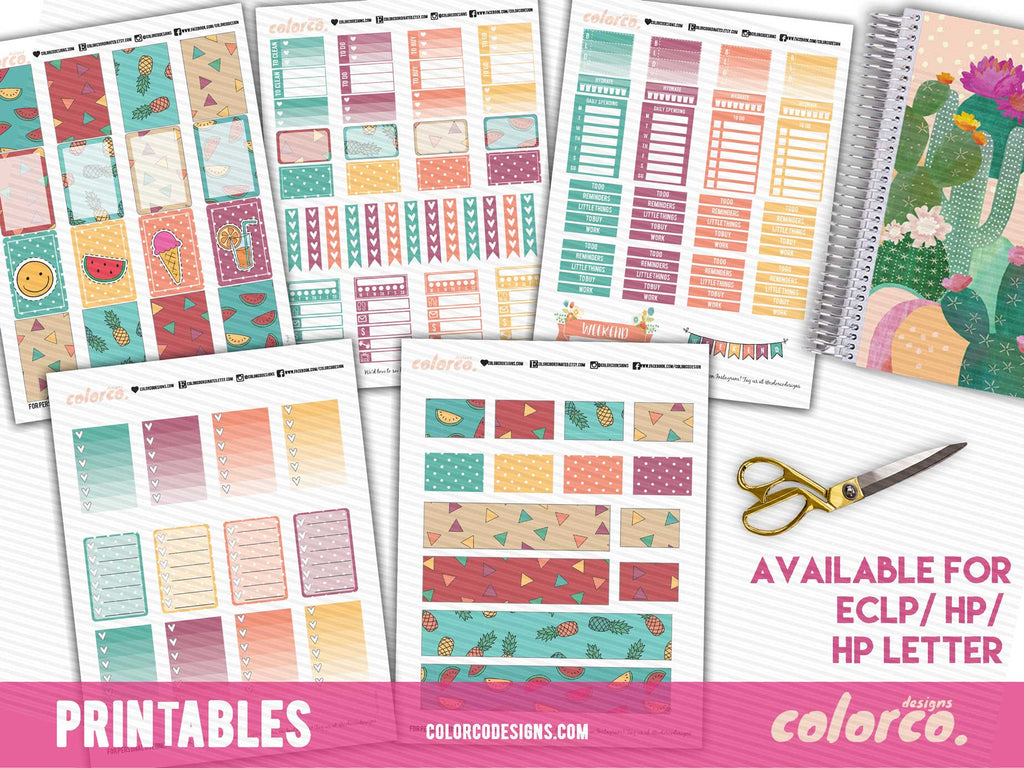 Funky Summer Weekly Kit - FULL | MAMBI Happy Planner