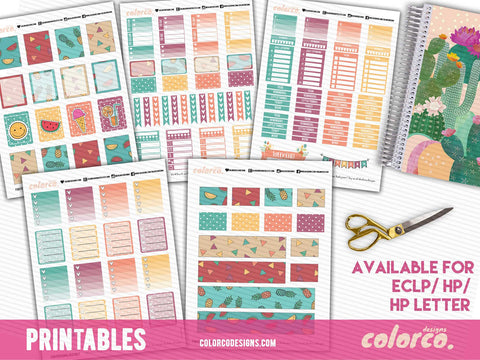 Funky Summer Weekly Kit - FULL | Erin Condren Life Planner