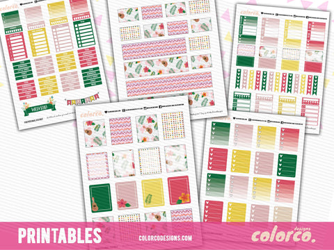 HAWAII SUMMER kit | Printable Planner Stickers | Erin Condren Life Planner