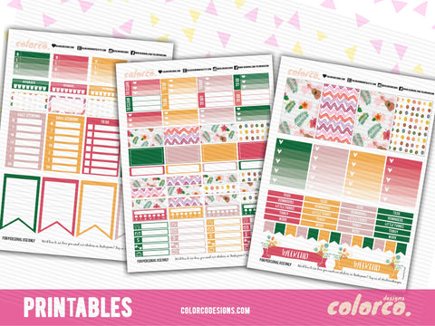 ***Letter sized MAMBI*** HAWAII SUMMER Weekly kit | Printable Planner Stickers | HAPPY PLANNER MAMBI