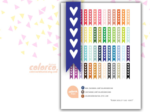 Heart TO DO Checklist flags  pdf file
