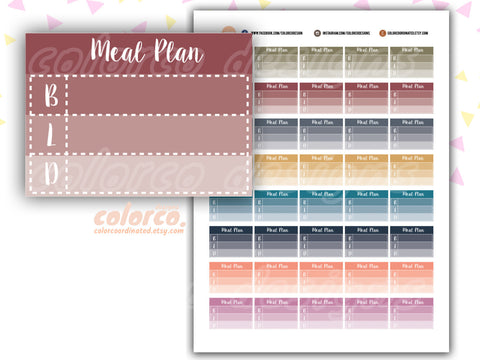 Fall colors MEAL PLAN Tracker pdf file