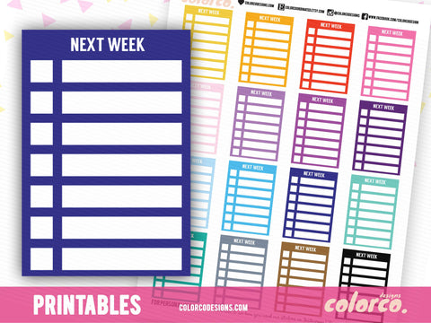 NEXT WEEK -  Stackable Sidebar Checklists |  Erin Condren