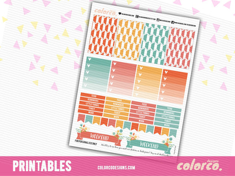 MAMBI LETTER SIZED Rainbow themed (1) | Printable Planner Stickers