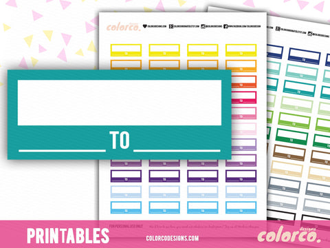 Work Schedule / Appointment Labels | Printable Planner Stickers