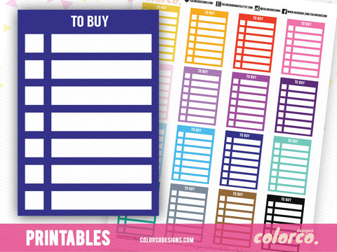 TO BUY -  Stackable Sidebar Checklists |  Erin Condren