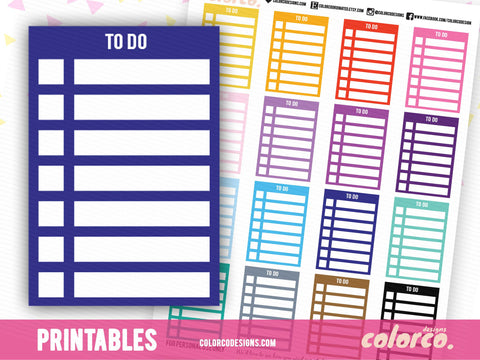 TO DO -  Stackable Sidebar Checklists |  Erin Condren