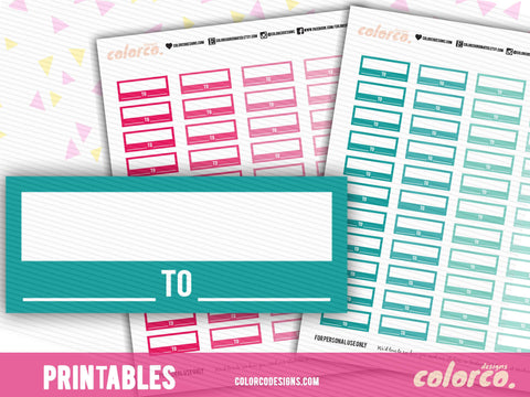 Work Schedule / Appointment Labels - Pink and Green | Printable Planner Stickers