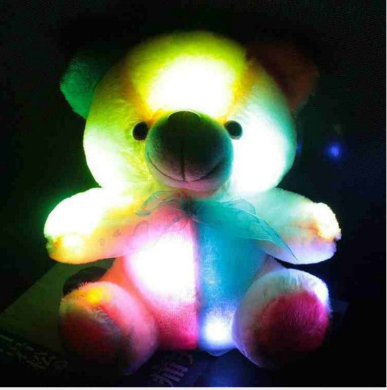 Children's Baby Birthday Gift Send Kids Lovely Soft Toy New hot 20 cm colorful glowing teddy bear luminous plush toy for Girl