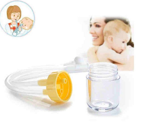 Newborn Baby Supplies for infant Aspirator Nose Cleaner Covenient anti-backwash baby Nasal Aspirator with straw Counterfeitness