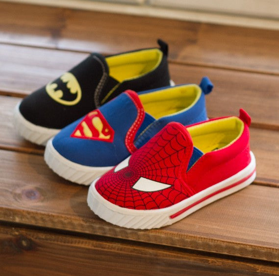 New Girls or Boys Sneakers - Superman, Spiderman, or Batman. Most Sizes 1.5 to 13.5
