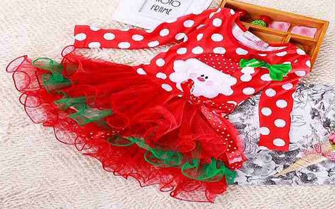 Baby girls lace kids clothes children cotton baby tutu princess dress Girl clothing Christmas fashion cartoon style