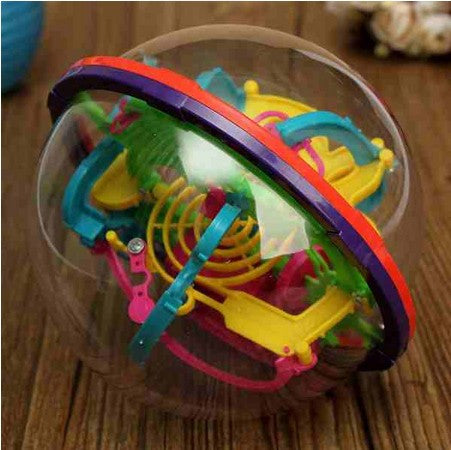 Kids Children Puzzle Game Educations IQ Ability 3D Magic Intellect Maze Ball Practical Balance Trainer Toy Tools