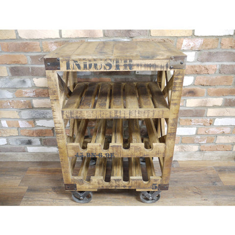 Industrial Wine Trolley