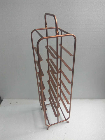 Industrial Copper Finished Wine Rack