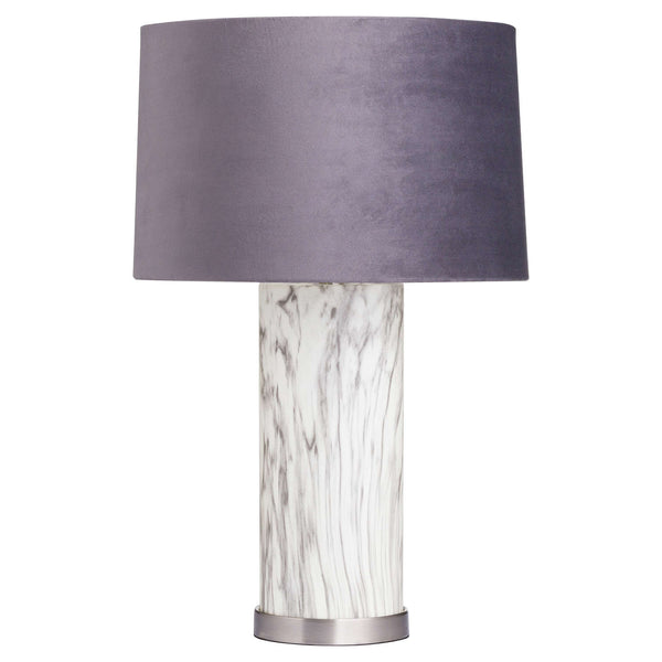 Marble Effect Glass Table Lamp