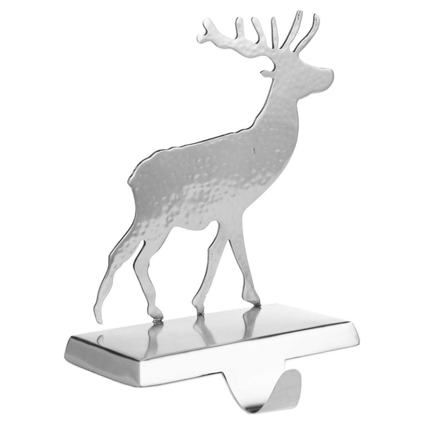 Silver Stag Stocking Holder