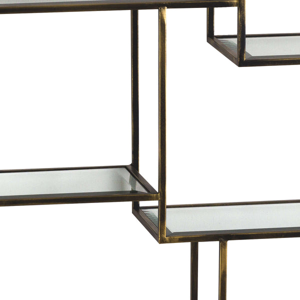 Antique Brass Large Multi Shelf
