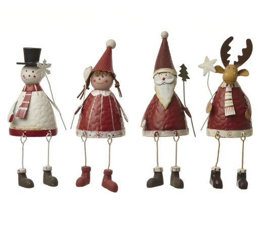 Festive Red Metal Figures