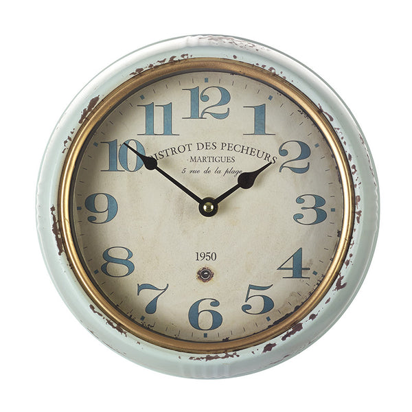 Distressed Style Wall Clock