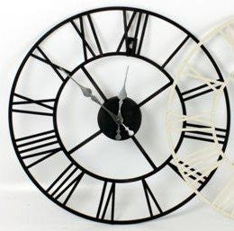 Black Roman Numeral Wall Clock