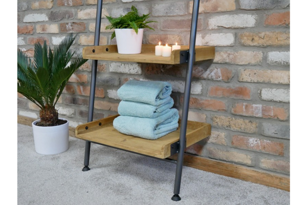 Industrial Shelves with Mirror