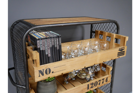 Industrial Shelving Trolley
