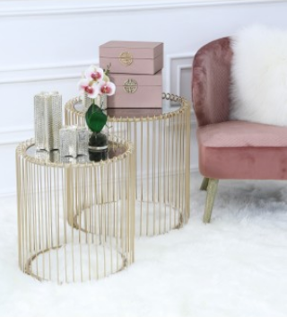 Gold Side Table (Set of 2)